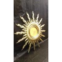 Золотое зеркало с лучами